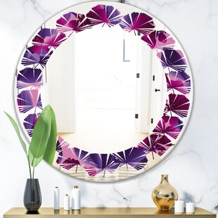 Leaves Orchid Blossom Cottage Americana Frameless Vanity Wall Mirror