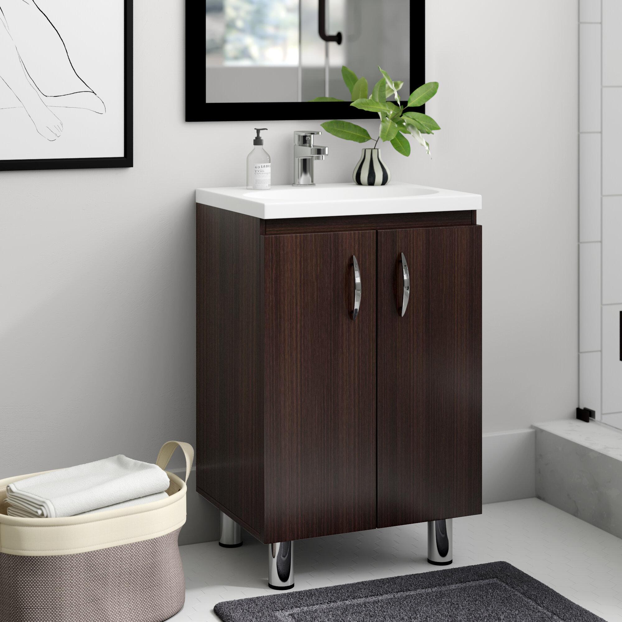 Zipcode Design Koenig 18 Single Bathroom Vanity Set Reviews Wayfair