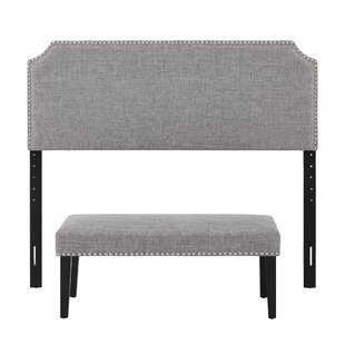 Gisele Full/Queen Upholstered Panel Headboard and Bench Set by Charlton Home