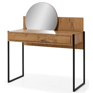 Freeland Dressing Table With Mirror By Williston Forge