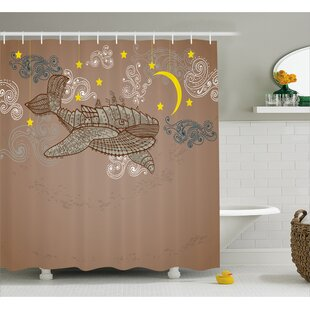 Lottie Steampuck Whale on Air Single Shower Curtain