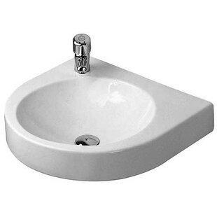 Read Reviews Architec Ceramic 23 Wall Mount Bathroom Sink By Duravit
