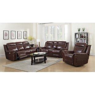 Charlton Home Ruvalcaba Reclining Configurable Living Room Set