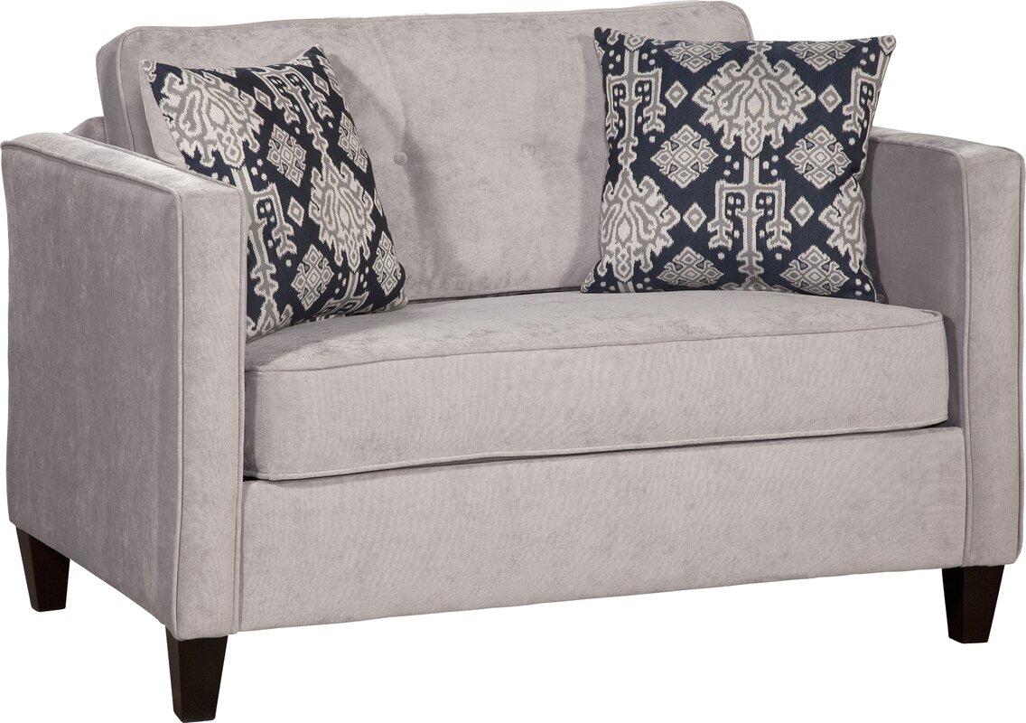 willa arlo interiors serta upholstery cia sleeper loveseat  - defaultname