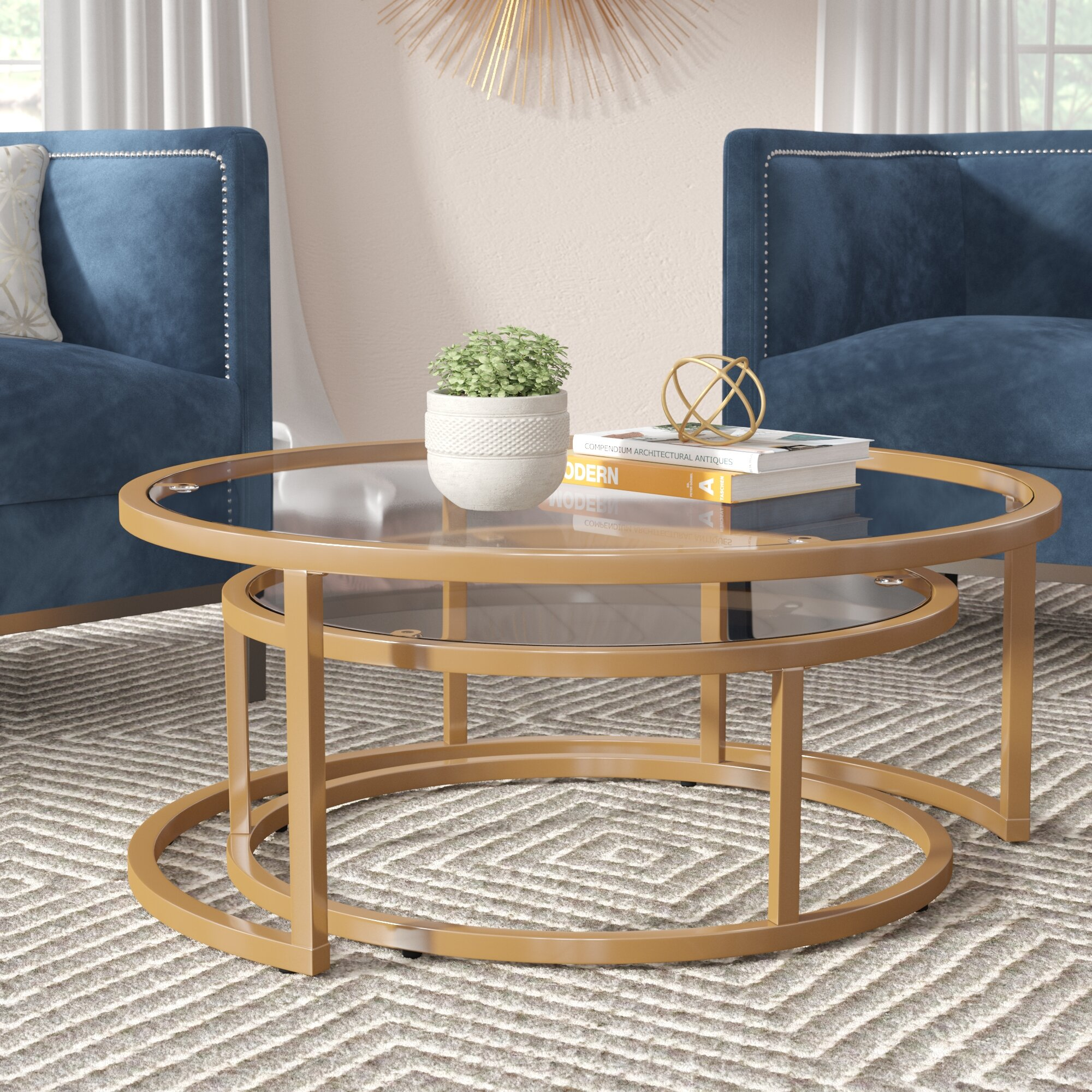 Everly Quinn Evie 2 Piece Coffee Table Set Reviews Wayfair