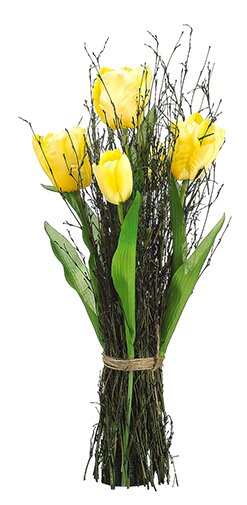 Northlight artificial yellow silk tulip flower spring floral artificial yellow silk tulip flower spring floral standing bouquet arrangement mightylinksfo Images