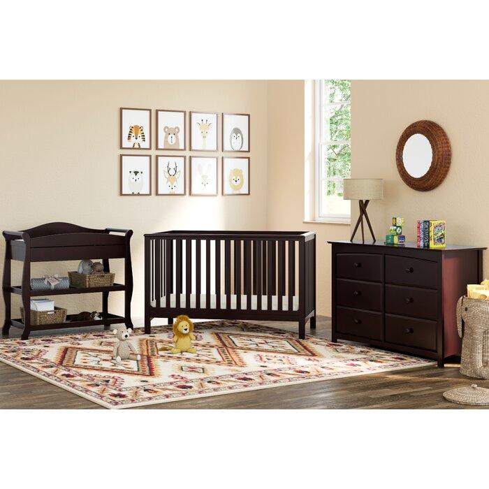 Hillcrest 3 In 1 Convertible Crib Piece Nursery Furniture Set