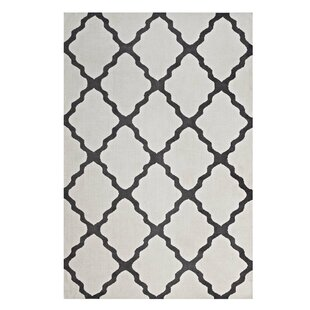 Tylersburg Moroccan Trellis Ivory/Charcoal Area Rug By Alcott Hill