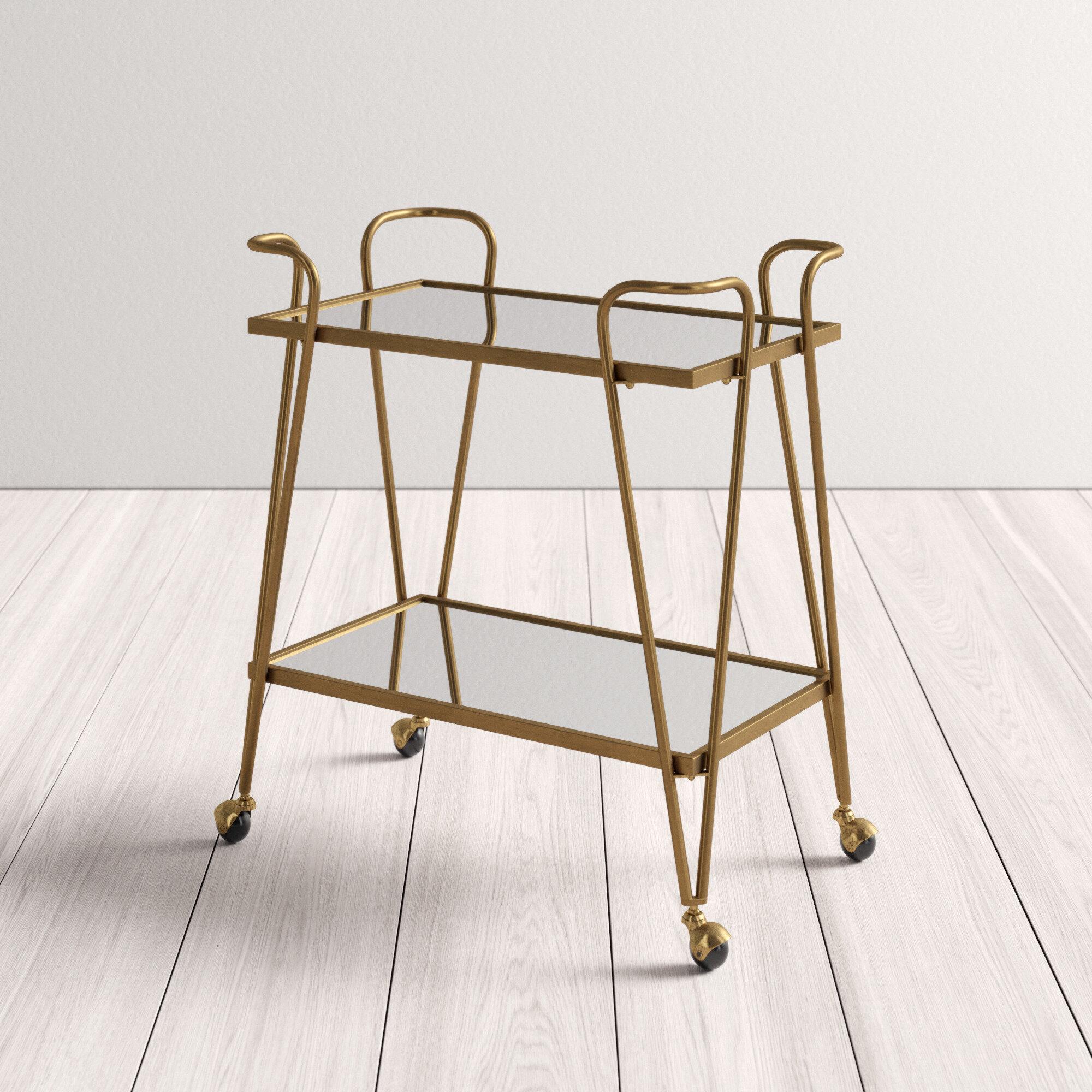 Lima Mid Century Bar Cart Reviews Allmodern