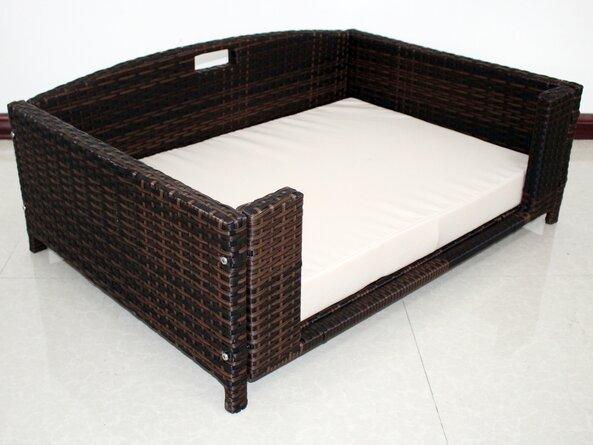 Cristobal Rattan Rectangular Dog Sofa