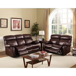 Shum Leather Power Reclining Sofa