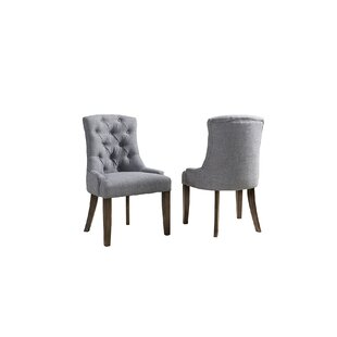 Brookshire Upholstered Dining Chair (Set of 2) Rosecliff Heights