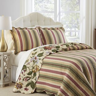 Laurel Spring 3 Piece Reversible Comforter Set by Waverly Great price