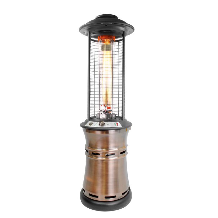 Captivating Collapsible Cylindrical Commercial Flame 36,000 BTU Patio Heater