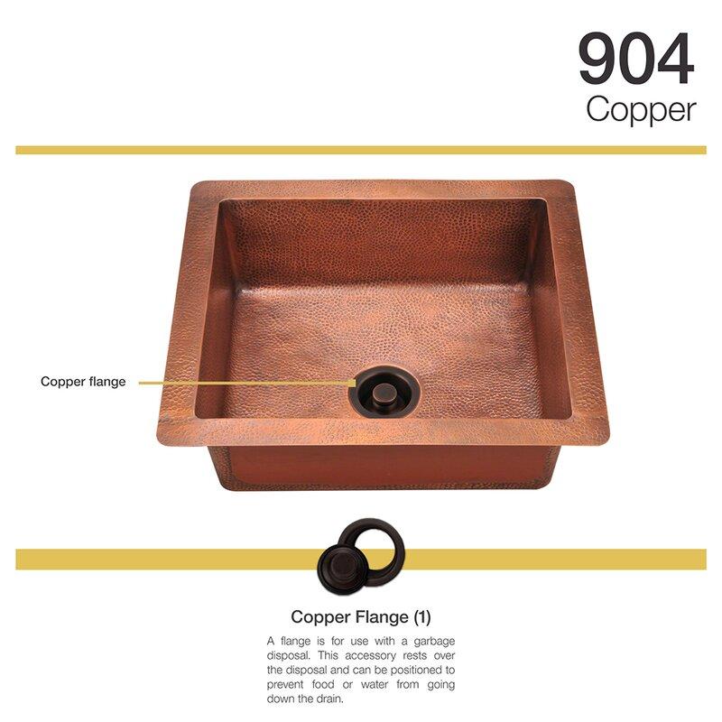 copper 25   x 22   undermount kitchen sink with drain assembly mrdirect copper 25   x 22   undermount kitchen sink with drain      rh   wayfair com