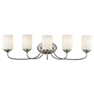 Best Reviews Weatherly 5-Light Vanity Light By Charlton Home