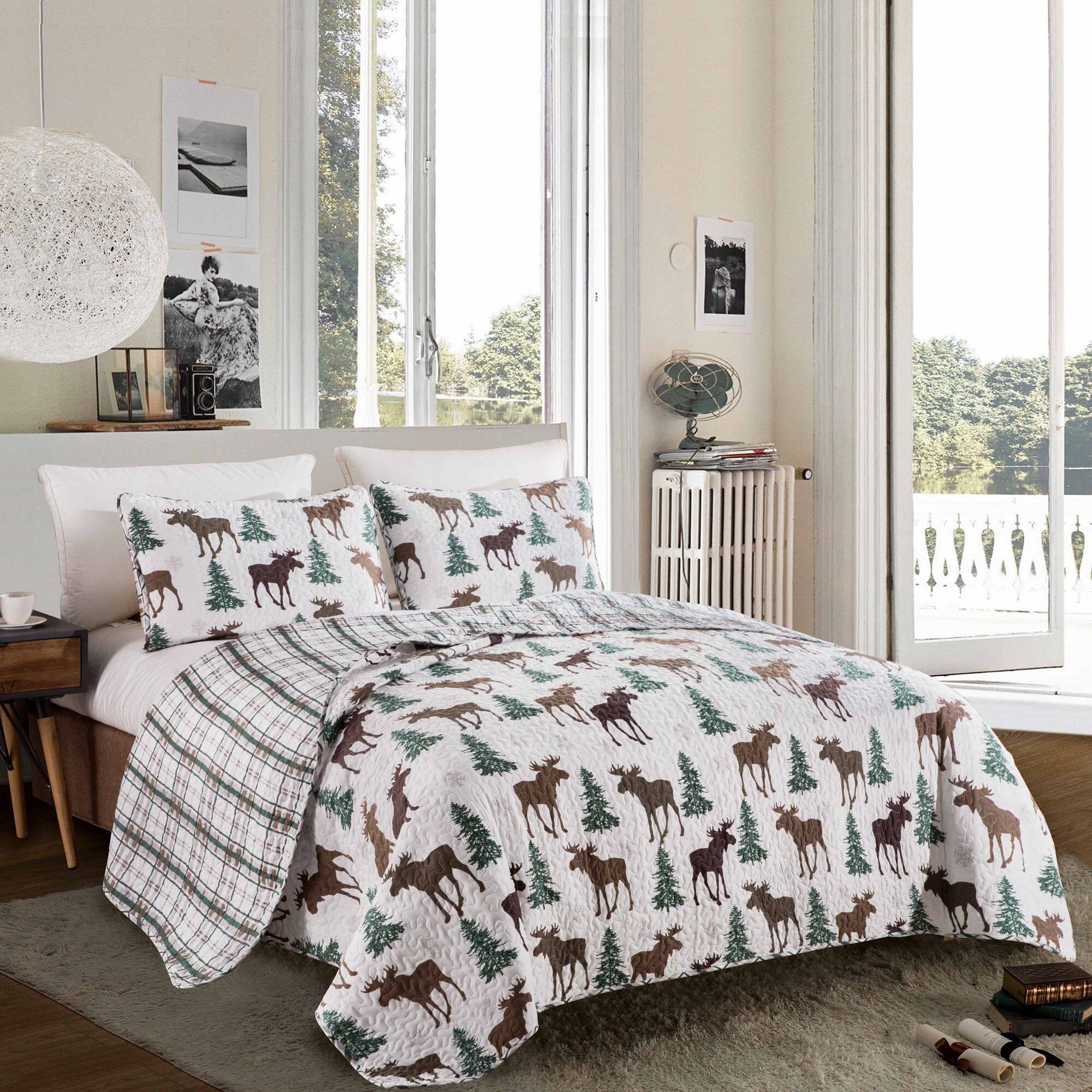 No Comforter Christmas Deer Twin Duvet Cover Kids Pink Twin Bedding Set Premium Cotton Girls Comforte Cover Twin With Zipper Closure Cartoon Teens Bedding Sets Black And White Grid Quilt Cover Kids