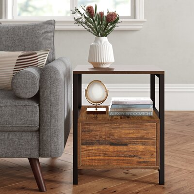 Joss Mainludie Block End Table With Storage Color Brown Dailymail