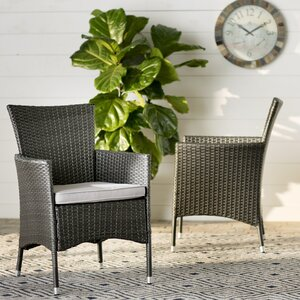 Carmack Patio Dining Chair with Cushion (Set of 2)