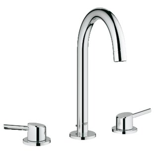 Grohe Concetto Double Handle Widespread Bathroom Faucet with Drain Assembly