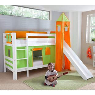 Faircloth Single Bunk Bed With Curtain, Tower And Pocket By Zoomie Kids