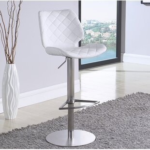 Mesirow Adjustable Height Swivel Bar Stool by Latitude Run