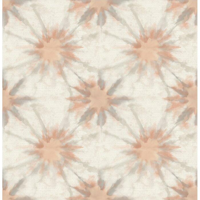 Kismet Iris Shibori 33 X 20 5 Abstract 3d Embossed Wallpaper