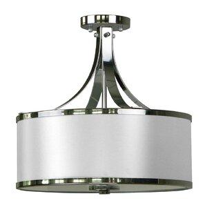 Whitfield Lighting Pauline 3-Light Semi Flush Mount