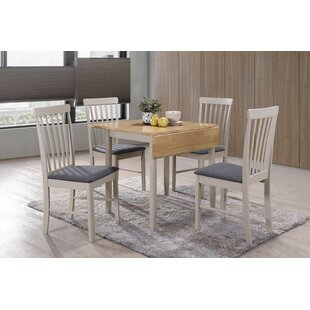 Folding Extendable Dining Set With 4 Chairs By Hazelwood Home