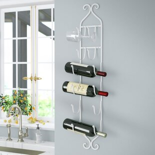 Saxatile 6 Bottle Wall Mounted Wine Rack ..