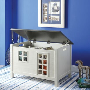 Buono Wooden Lift Top House Design Storage Bench by Zoomie Kids