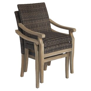 Raya Stacking Teak Patio Dining Chair with Cushion