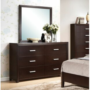Red Barrel Studio Lance 6 Drawer Double Dresser with Mirror Image
