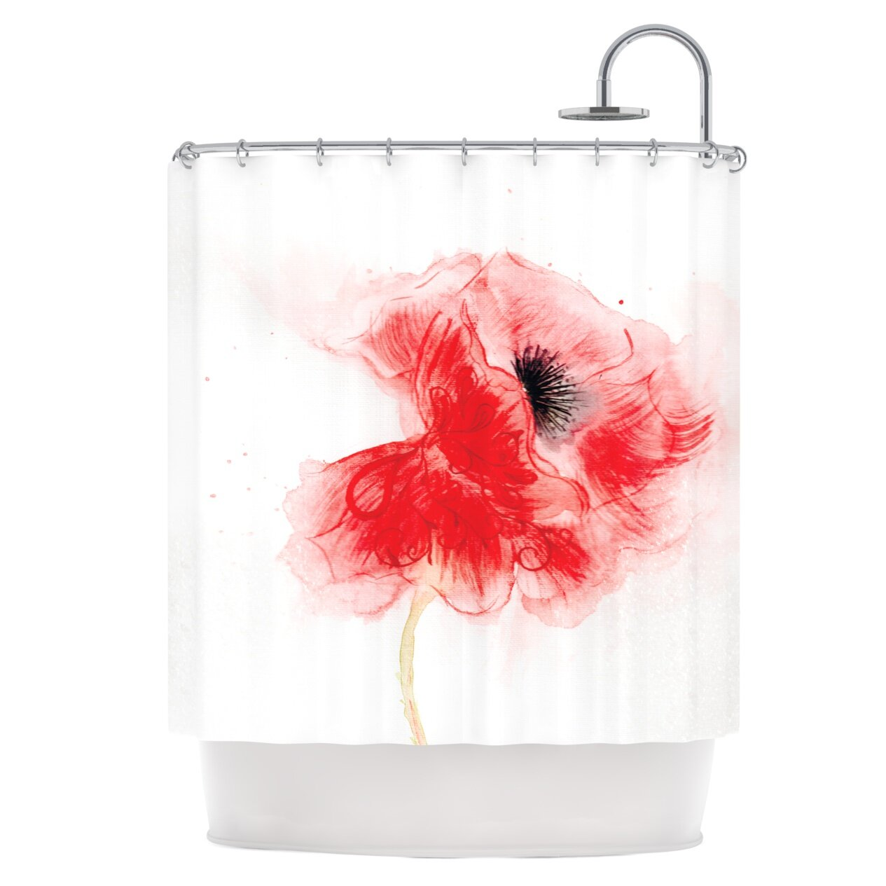 East Urban Home Poppy Shower Curtain