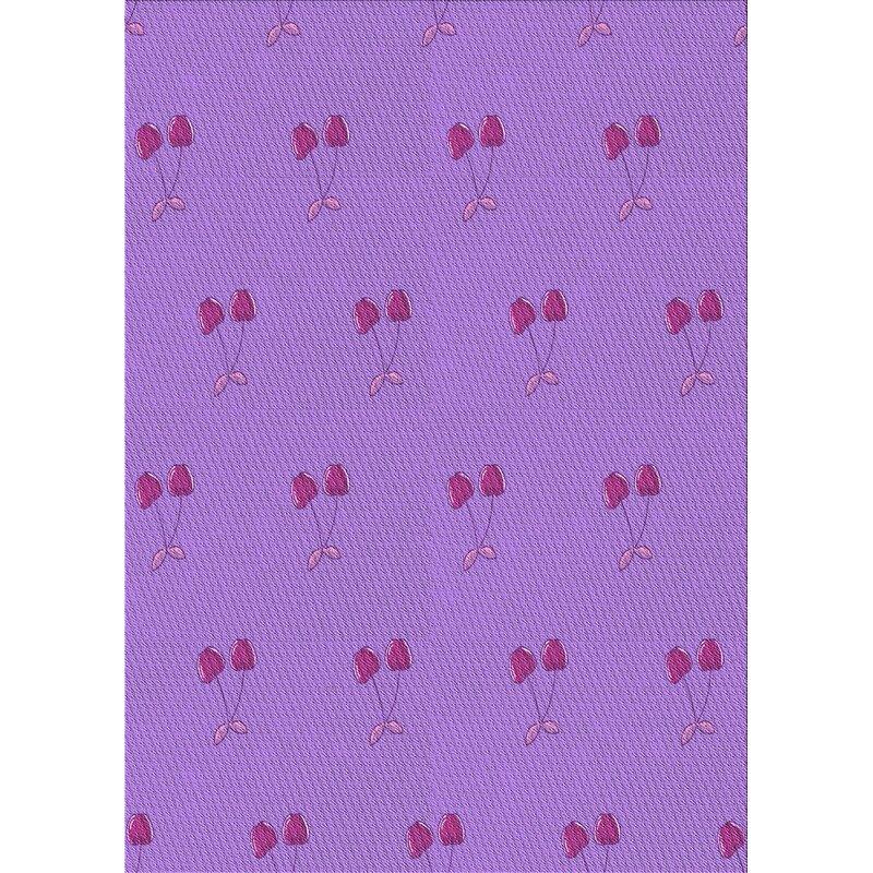 East Urban Home Harleigh Wool Purple Area Rug Wayfair