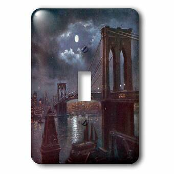 3drose Brooklyn Bridge And The River At Night With A Full Moon 1 Gang Toggle Light Switch Wall Plate Wayfair