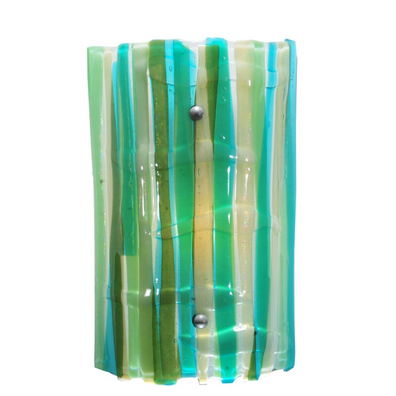 Meyda Tiffany 1 Light La Spiaggia Fused Glass Wall Sconce Wayfair