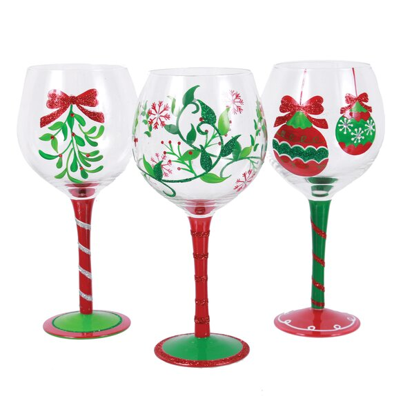 christmas wine champagne glasses youll love wayfair