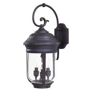 Great Outdoors by Minka Amherst 3-Light Outdoor Wall Lantern