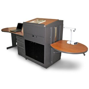 Vizion Teacher's Desk AV Cart with Media Center and Lectern by Marvel Office Furniture