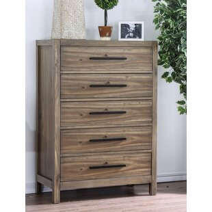Great Price Back Contemporary 5 Drawer Chest by Foundry Select
