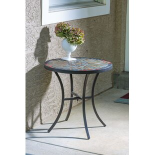 Metal  Side Table by Bungalow Rose