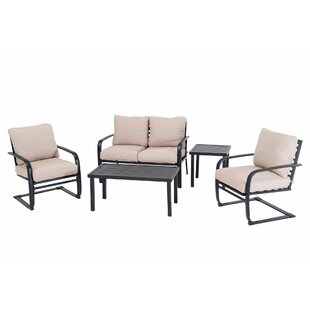 Beatley 5 Piece Deep Seating Group with Cushions (Set of 5)