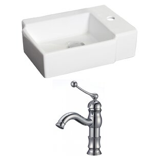 Inexpensive Ceramic Rectangular Vessel Bathroom Sink with Faucet ByRoyal Purple Bath Kitchen