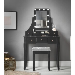 Datto Dressing Table With Mirror By Canora Grey
