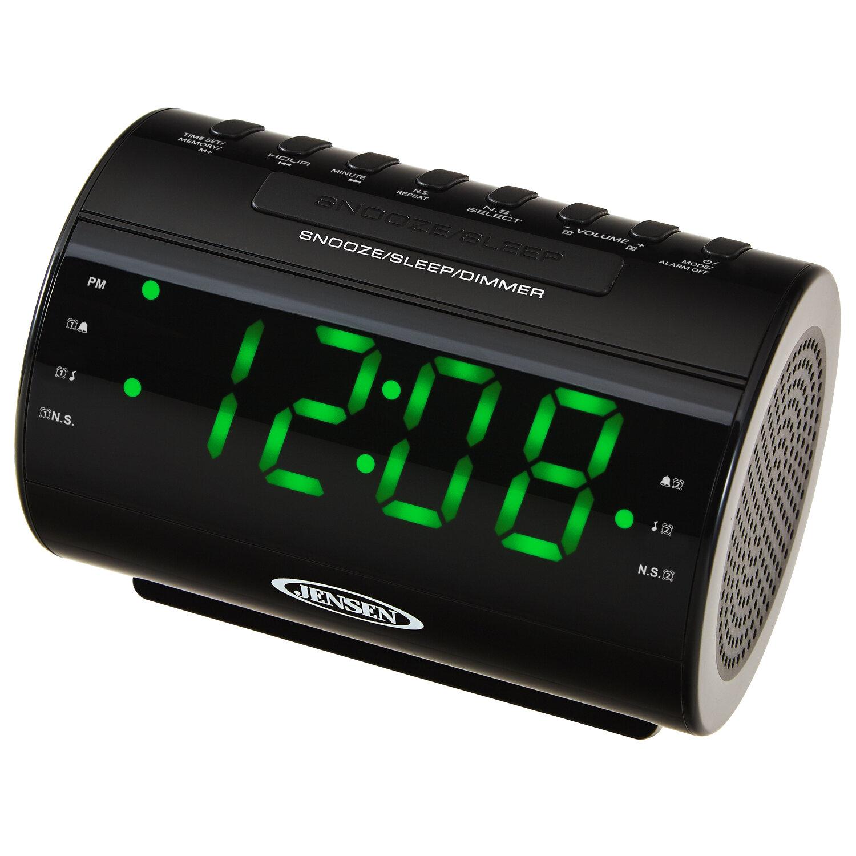 Jensen Mobile AM/FM Dual Radio With Nature Sounds Tabletop Clock U0026 Reviews  | Wayfair