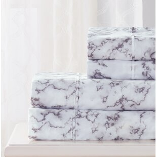 Bellard 4 Piece Marble Sheet Set
