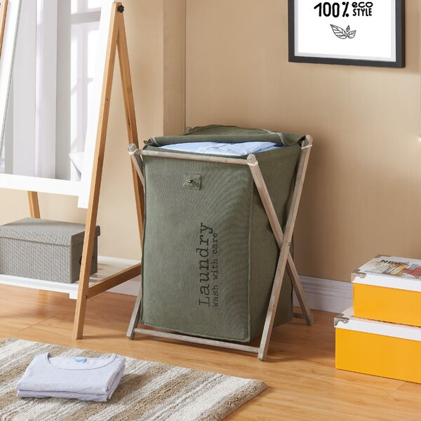 Kordell Army Canvas Folding Laundry Hamper