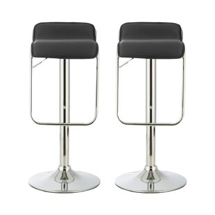 Review Pruitt Height Adjustable Swivel Bar Stool (Set Of 2)