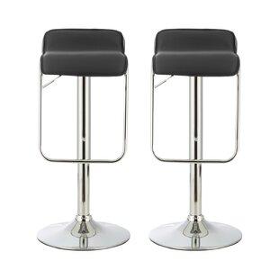 Deals Pruitt Height Adjustable Swivel Bar Stool (Set Of 2)
